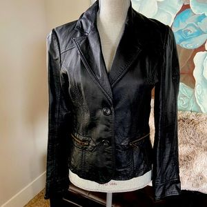 Forever 21 Black Faux Leather Jacket